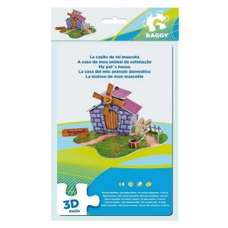 BAGGY ´PETS HOUSE´ - 3D PUZZLE 14KS